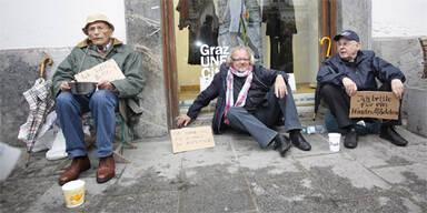 Protest-Betteln Graz