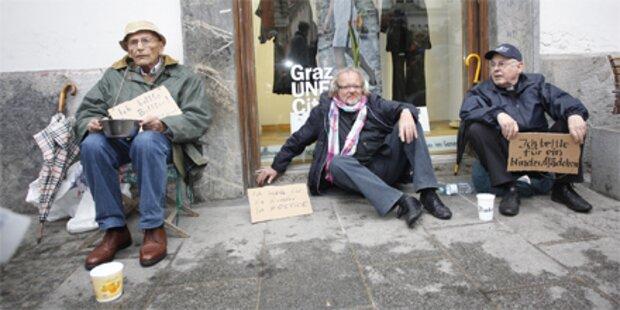 Steirische Protest-Bettler angezeigt