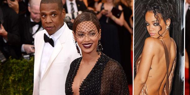Beyoncé Knowles, Jay Z, Rihanna