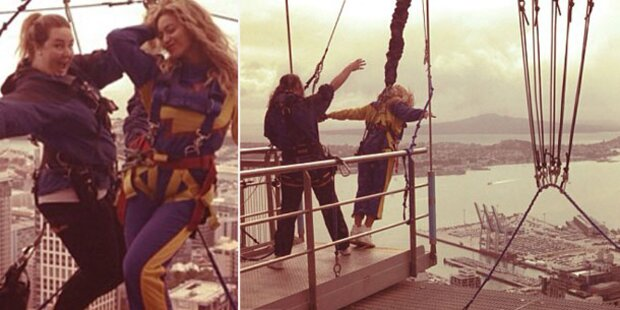 Beyoncé springt von 192-Meter-Turm