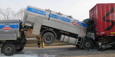Massen-Crash auf der A2 bei Graz
