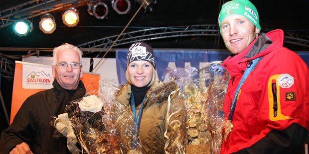Großer Empfang für Skirennläuferin Marlies Schild