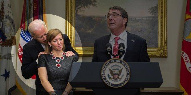 Obama-Vize begrapscht Minister-Gattin
