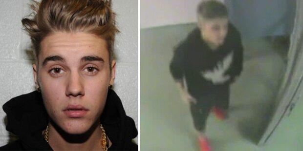 Polizei zeigt Justin Biebers Pinkel-Video