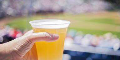Bier im Fußballstadium