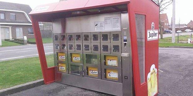 Bierkisten-Automat wird Internet-Hit