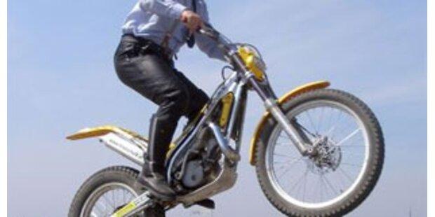 Herzversagen während Motorrad-Fahrt