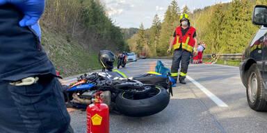 Motorrad-Unfall in Oberösterreich