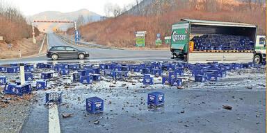 Laster verlor 200 Kisten Bier