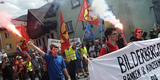 Demo gegen Bilderberger-Treffen