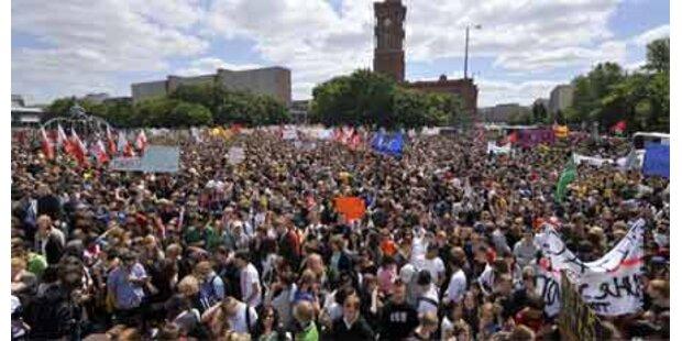 Hunderttausende Deutsche auf der Strasse