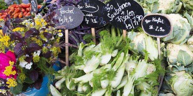 Österreicher geben für Bio-Essen 180 Euro aus