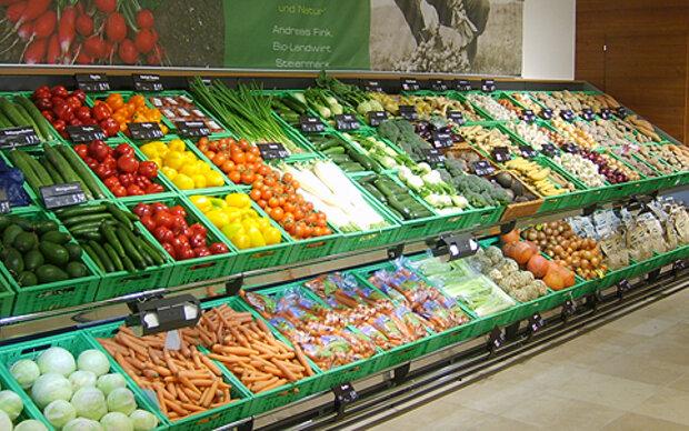 Ein Biomarkt in dem Sie alles bekommen