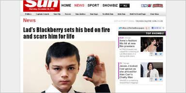 Explodiertes Smartphone verletzte Bub