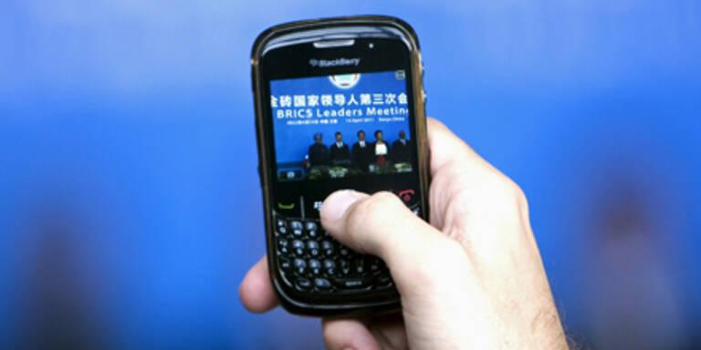 Millionen Blackberry-Nutzer ohne E-Mails