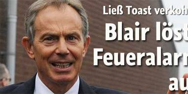 Tony Blair löste Feueralarm aus