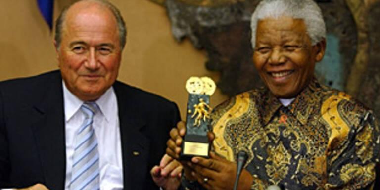 FIFA-Boss Blatter und Nelson Mandela