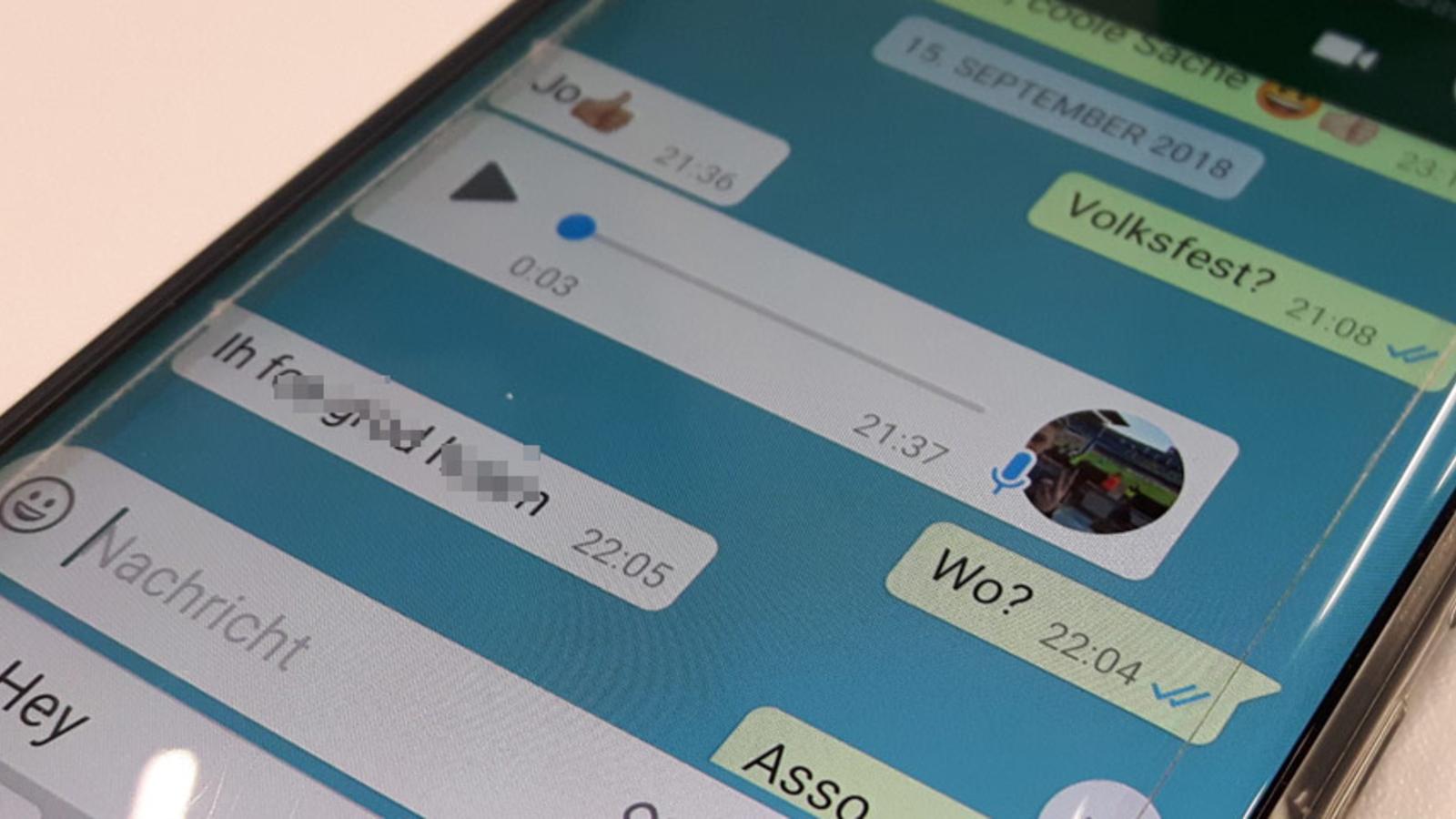 WhatsApp Sprachnachricht anhören ohne blaue Haken