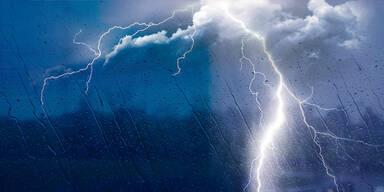 Acht Kinder durch Blitzschlag verletzt