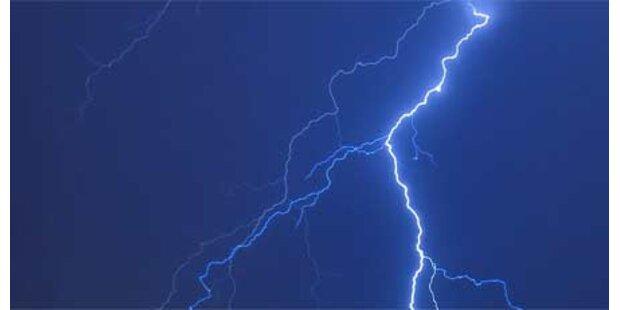 Blitz und Donner am Wochenende