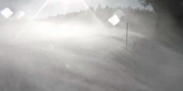 Wetter extrem: Starker Blizzard in Hartberg