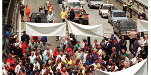 Vigaun beteiligt sich an Blockade