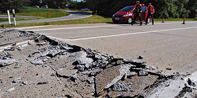 Lebensgefahr: Hitze sprengt Autobahnen