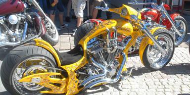 Biker-Mania in Saalbach-Hinterglemm