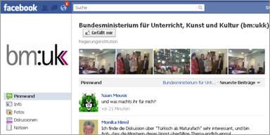 BMUKK als erstes Ministerium auf Facebook