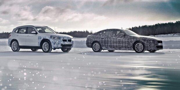 BMW testet i4 und elektrischen X3