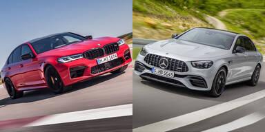 BMW frischt den M5 auf, Mercedes den AMG E 63