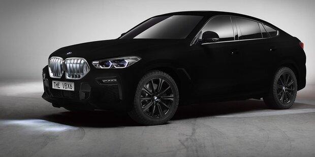 Dieser BMW X6 ist schwärzestes Auto der Welt