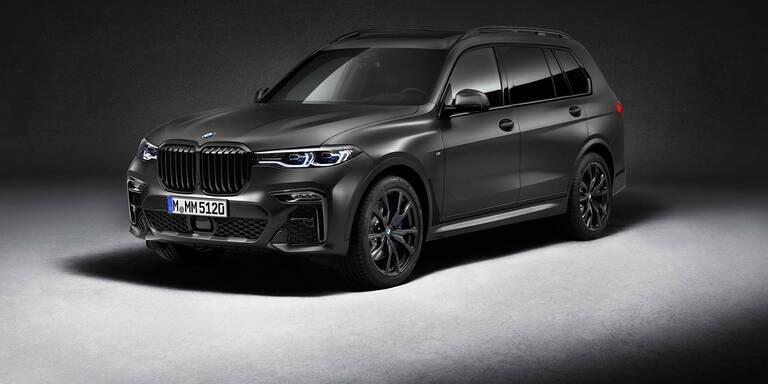 BMW X7 kommt als Edition Dark Shadow