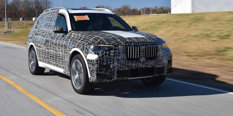 BMW X7 als Erlkönig unterwegs