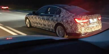 BMW 5er Erlkönig auf der A1 erwischt