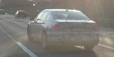 BMW 7er Erlkönig auf der A1 erwischt
