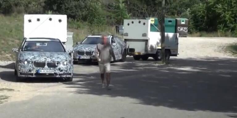 BMW Erlkönig-Fahrer rastet aus