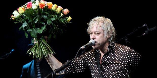Bob Geldof als Star zum Anfassen in Wien