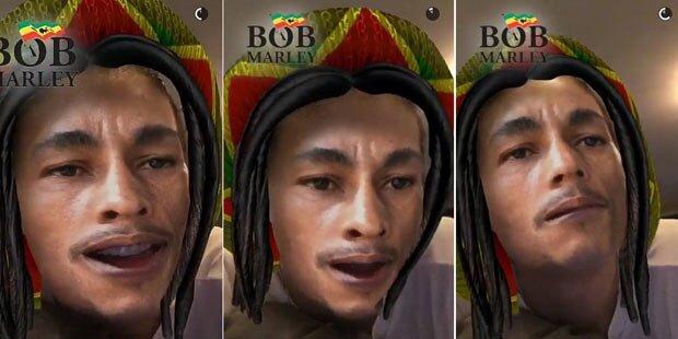 Snapchat: Shitstorm wegen Bob-Marley-Filter
