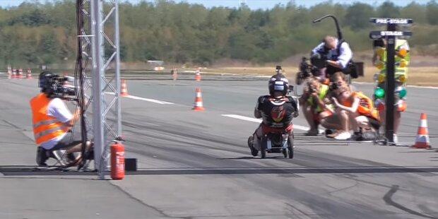 Neuer Speed-Weltrekord mit dem Bobby Car