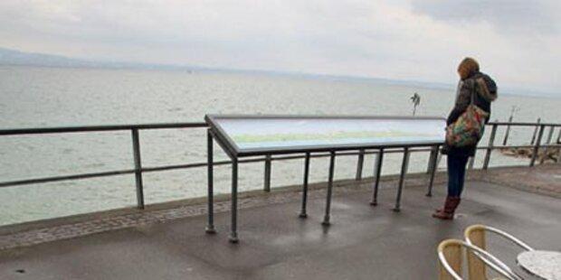 Bodensee auf historischem Tiefstand