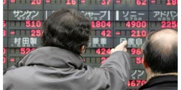 Asiens Börsen auf Talfahrt