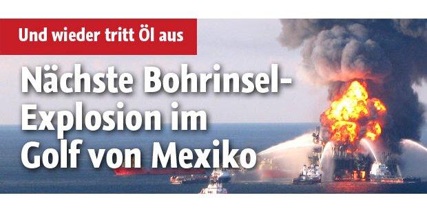 Ölbohrinsel im Golf von Mexiko explodiert