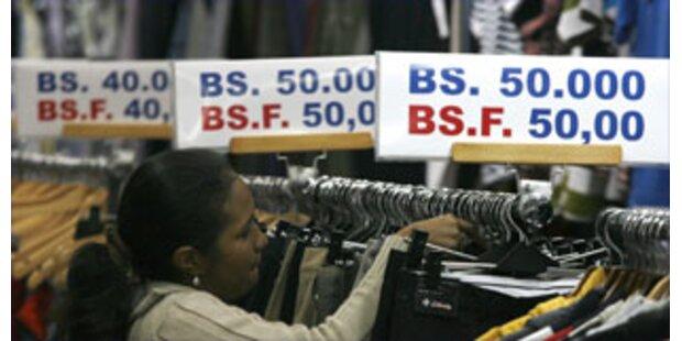 Chavez streicht Nullen bei der Währung