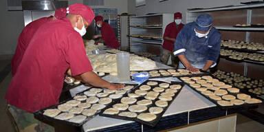Bolivien Soldaten Brot