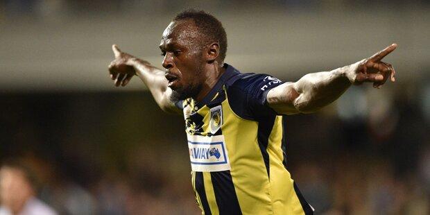 Usain Bolt erzielt sein erstes Tor