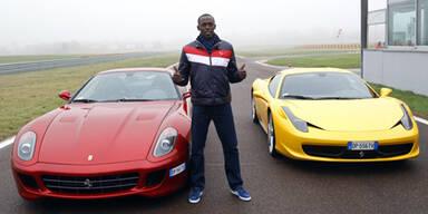 Usain Bolt testete Ferraris in Maranello