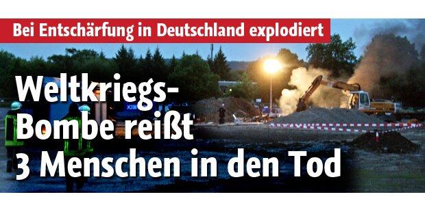 Weltkriegs-Bombe fordert 3 Menschenleben