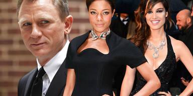 James Bond, Bérénice Marlohe, Naomie Harris Daniel Craig