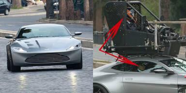 Erwischt: Bond fährt gar nicht selbst